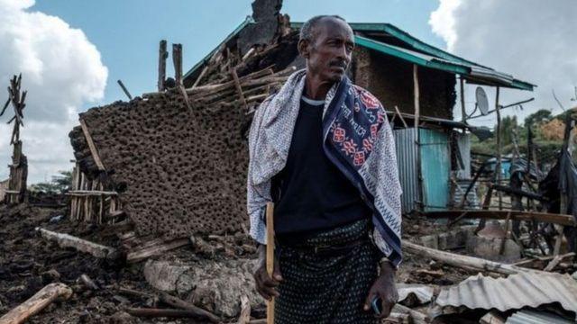 تسبب الصراع في دمار واسع النطاق في تيغراي
