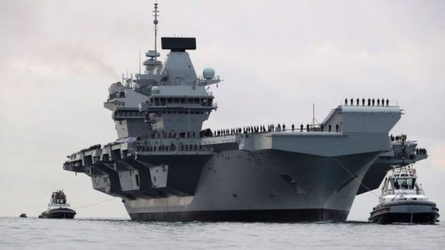 HMS Queen Elizabeth sailed into Portsmouth in August following preparations at the naval base