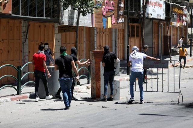 تظاهرات فلسطینیان در شهر الخلیل