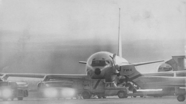 TWA85 on the runway in Denver - 31 October 1969