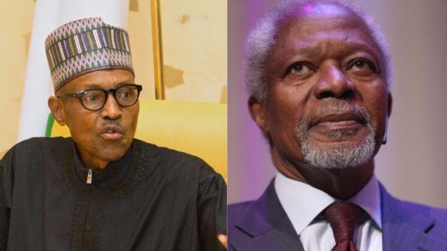 Buhari na Kofi Annan