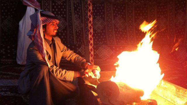 Un comerciante en un mercado de Riad