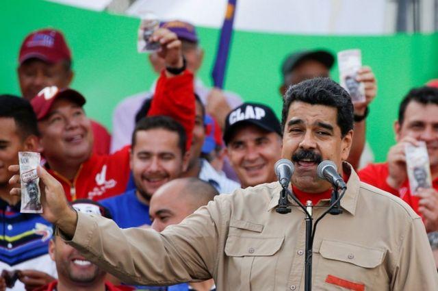 Perezida wa Venezuwela Nicolas Maduro savuga ko guhagarika inioti y'100 bizaca ibikorwa bya magendu