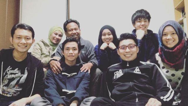 Bertemu dengan teman-teman dari Indonesia, termasuk saat Idulfitri