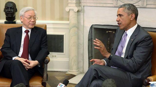 Tổng Bí thư Nguyễn Phú Trọng đã hội kiến, hội đàm với Tổng thống Hoa Kỳ Barack Obama ngày 7/7 năm 2015