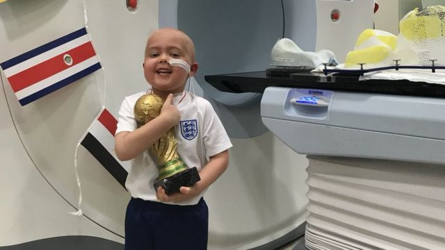 England football team urges hospice support in memory of boy