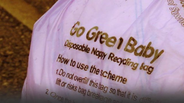 Nappy recycling bag