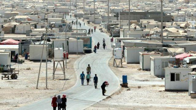 Лагерь для беженцев Заатари, в Иордании