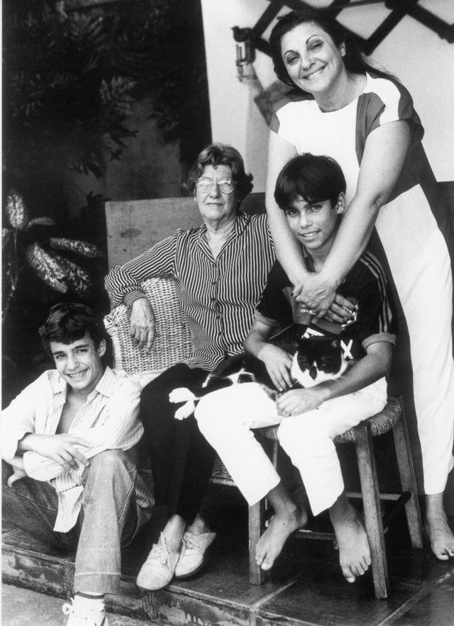 Bernardo Amaral, Elisa do Amaral, João Mario e Yara Amaral, em novembro de 1988