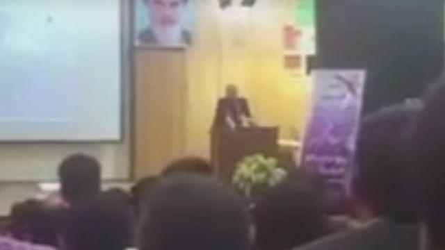 فیلم سخنرانی در یوتیوب و خبرگزاری فارس منتشر شده است