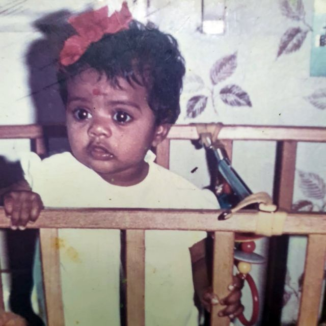 Farah as a baby