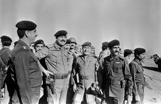 بازدید صدام از مرز ایران