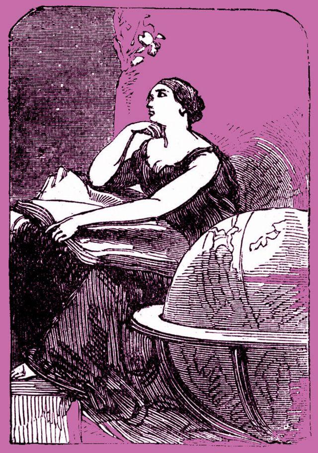 Ilustração representando uma Hipatia imaginada