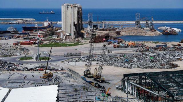 مرفأ بيروت الذي دمر في انفجار 4 أغسطس/ آب