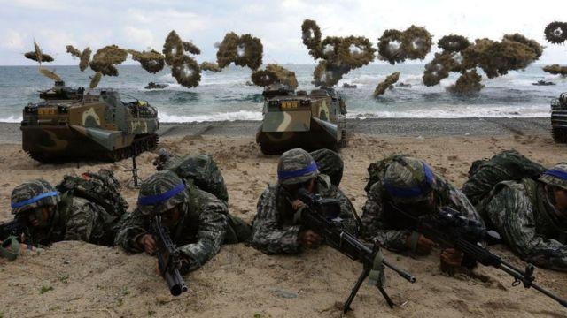 米国と韓国はこれまで大規模な合同軍事演習を定期的に行ってきた