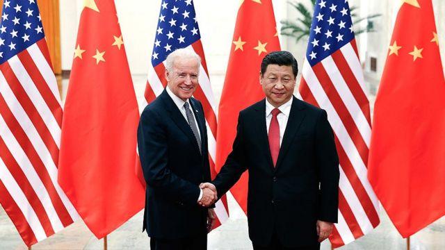 Şi Jinping ve Joe Biden