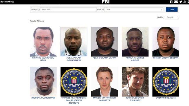 Di six Nigerians wey FBI dey find