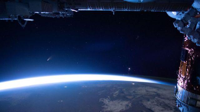 अन्तर्राष्ट्रिय अन्तरिक्ष स्टेशनबाट देखिएको दृष्य