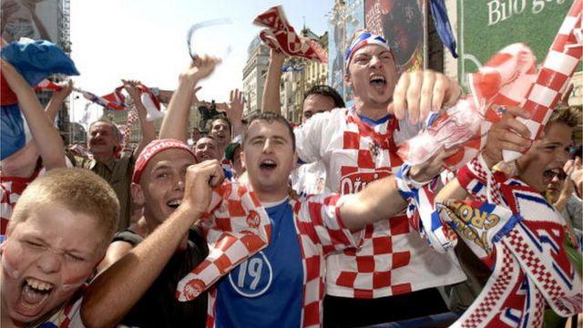 Navijači Hrvatske na trgu u Zagrebu