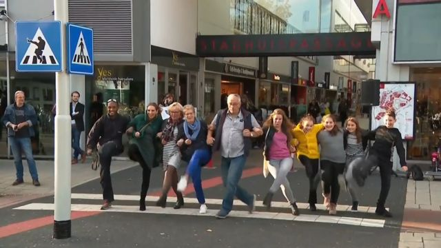 Dutch 'silly walks' crossing is a hit