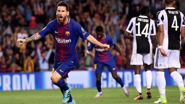 Lionel Messi lập cú đúp hôm 12/09/2017.