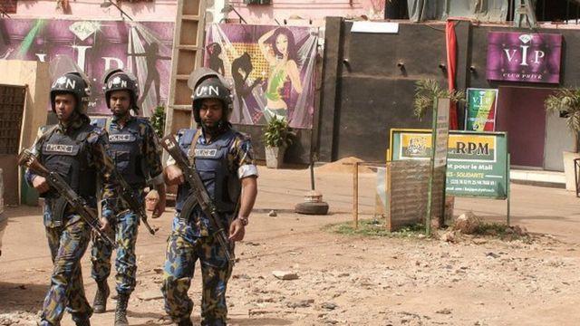 Des casques bleus à Bamako, en mai 2015