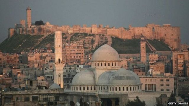 Mji wa Aleppo ulivyokuwa ukionekana mwaka 2006