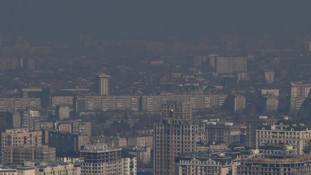 Смог, окутывающий Бишкек