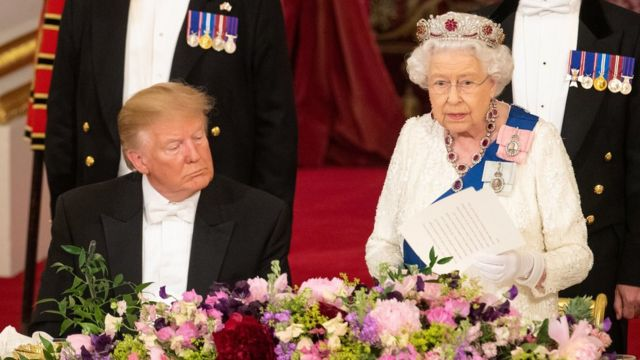 Donald Trump and Queen Elizabeth II