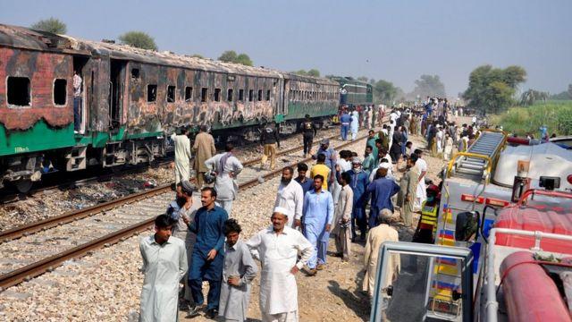 PAKISTAN TRAIN ACCIDENT FIRE, pakistan train accident