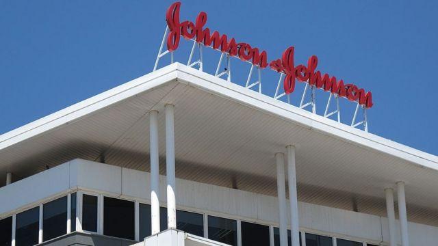 Johnson & Johnson logo on building