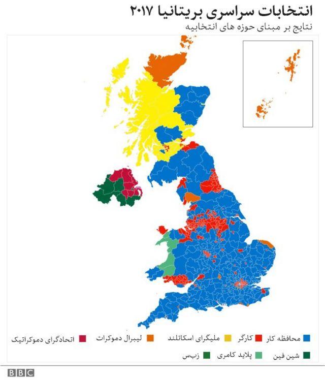 نقشه رای ها