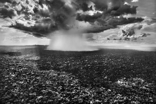 بارش باران در پارک ملی سِرا دو دِویزور، ایالت آکری، سال ۲۰۱۶