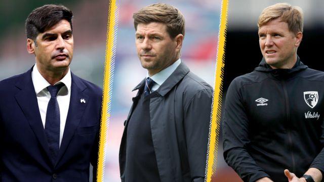 Paulo Fonseca, Steven Gerrard, Eddie Howe