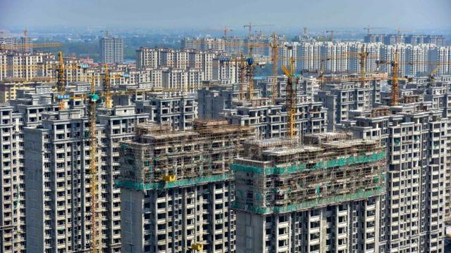 Edificios en construcción en China