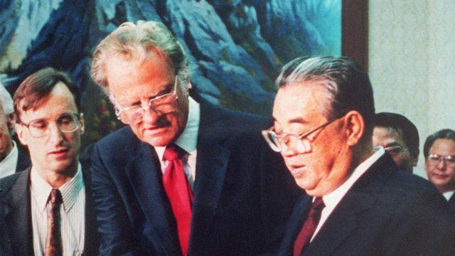 Билли Грэм и Ким Ир Сен, 1992 год