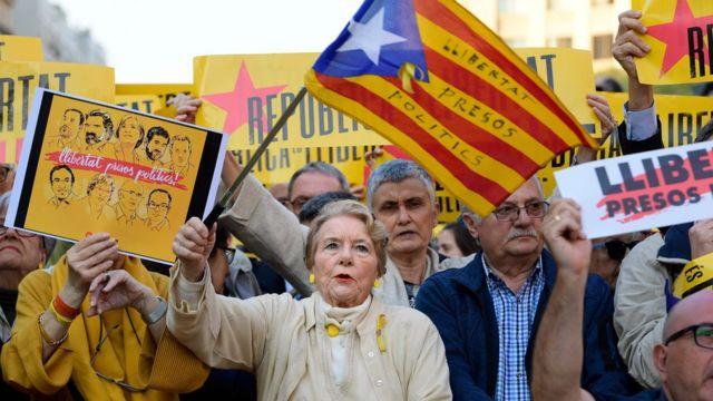 Manifestación en Cataluña.