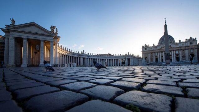 Ishusho y'urubuga rwa Sait Pierre i Vatican mukwa gatatu 2020
