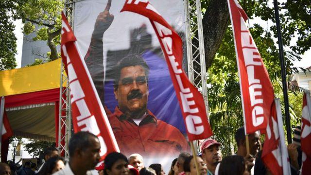 Simpatizantes de Nicolás Maduro