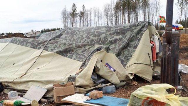 палатка шиес