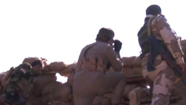 Fighters near Sinjar