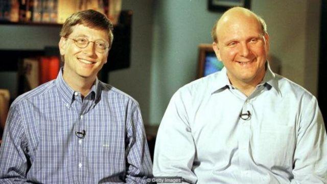 Bill Gates tare da Steve Ballmer a 1998