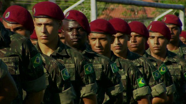 Soldiers in Brazil