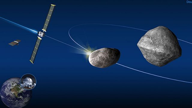 NASA lanzará una nave para que choque contra un asteroide como defensa.