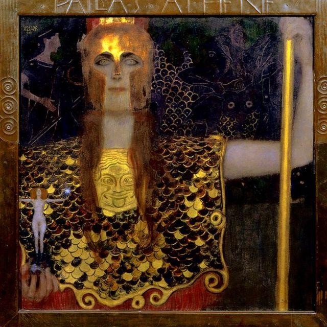 Palas Atenea pintada por Gustav Klimt