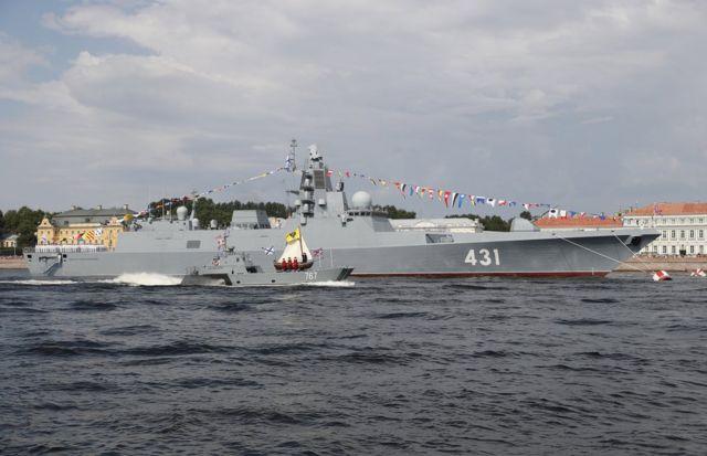 """""""卡薩托諾夫海軍元帥號""""護衛艦是俄羅斯海軍一艘最新服役的戰艦(2019年7月28日)"""