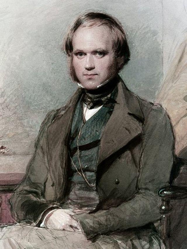 Retrato de Charles Darwin quando jovem