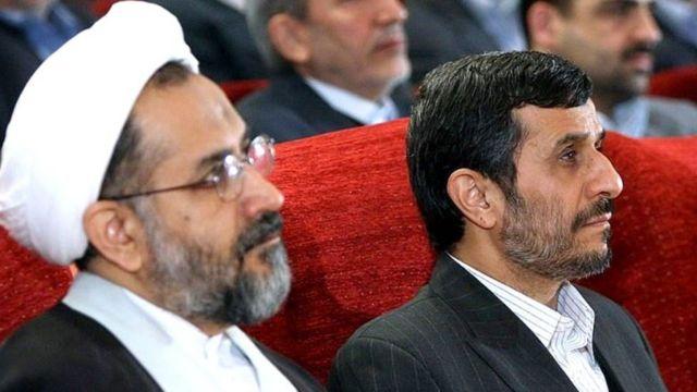 محمود احمدی نژاد و حیدر مصلحی