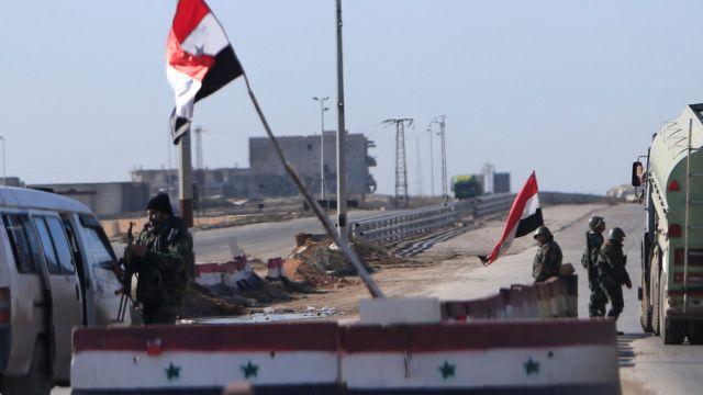 نقطة تفتيش للجيش السوري