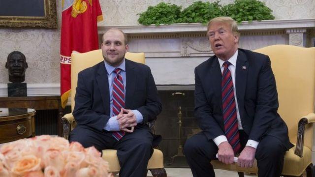 James Holt y Donald Trump